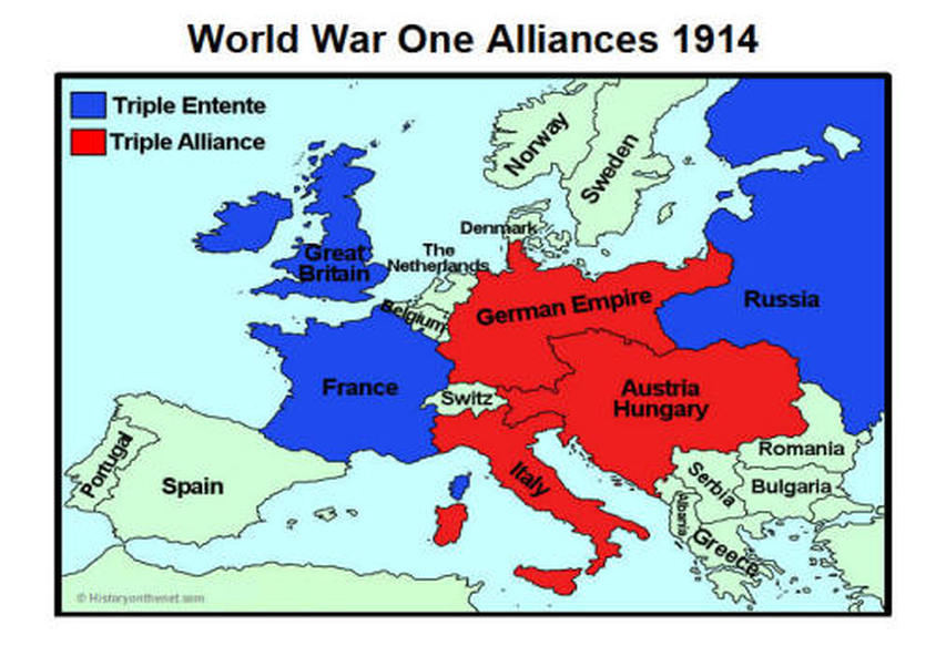 the triple alliance and the triple entente were The triple entente the triple entente was an alliance formed in 1907 by france, britain and russia before the 1st world war it was started by the french because they.