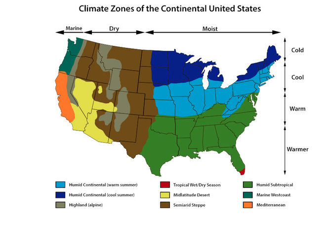Lesson Thematic Maps APRIL SMITHS TECHNOLOGY CLASS - Us map climate zones