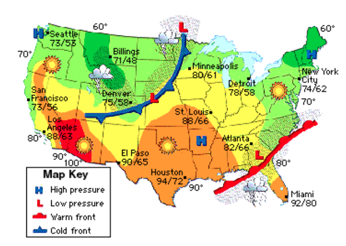 Lesson Thematic Maps APRIL SMITHS TECHNOLOGY CLASS - United states precipitation map