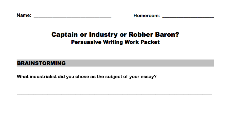 captains of industry or robber barons paper smith s picture